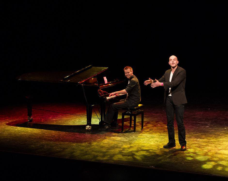 Bart & Evert op het podium